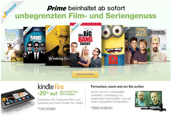 Amazon Prime jetzt mit Video on Demand Angebot